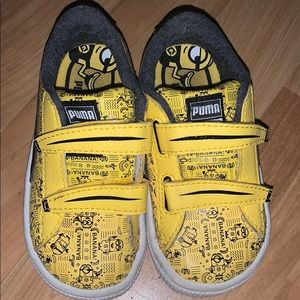 Yellow Toddler Puma shoes